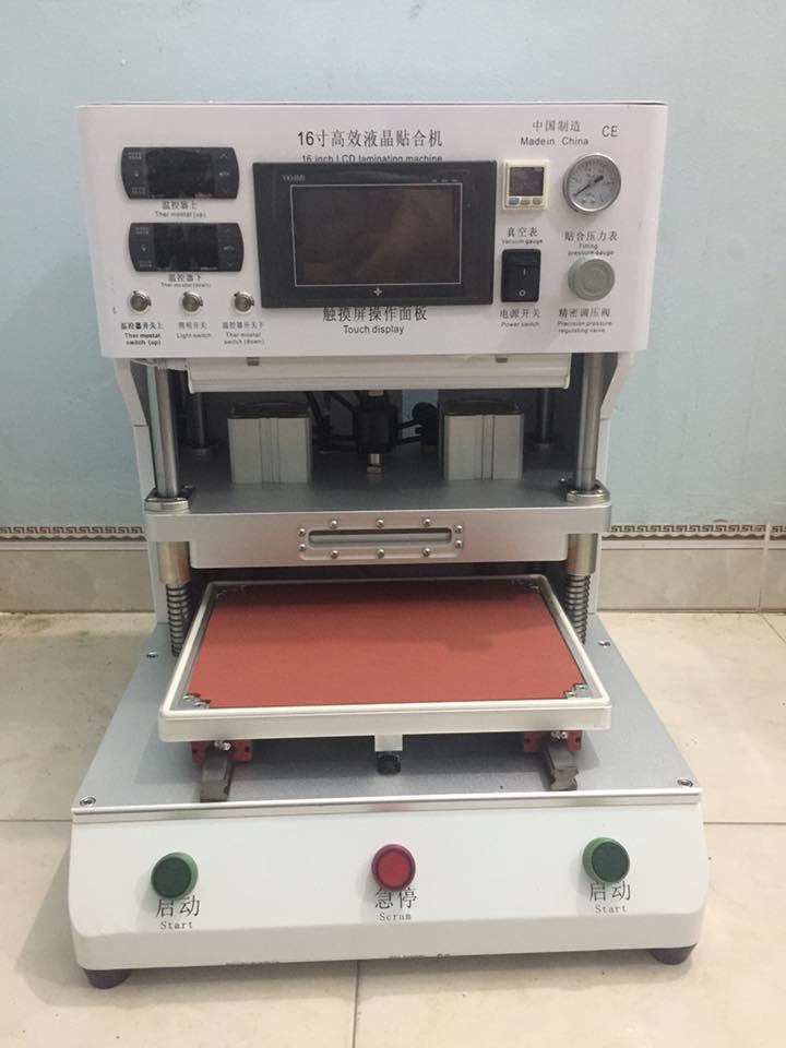 Bộ máy ép kính 16 inch nhập khẩu mẫu l