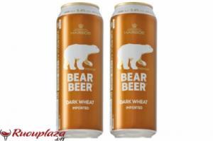Bia Gấu Bear Beer Dark Wheat 5%, 500ml xuất xứ Đức