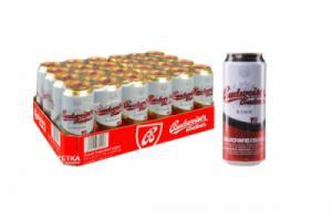 Thùng bia đen Tiệp Budweiser Bubva 24 lon 500 ml