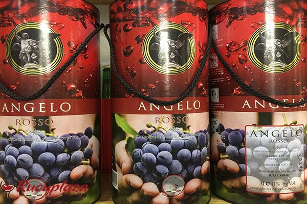 rượu vang bịch ý ngọt angelo 3 lít