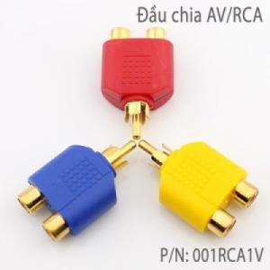 Đầu chia AV/RCA 1 ra 2