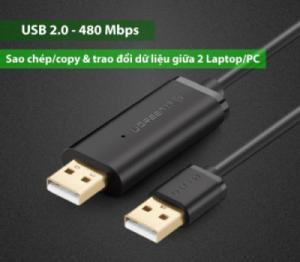 Cáp 2 đầu USB, nối 2 máy tính với nhau, chia sẻ dữ liệu giữa 2 máy tính (2 mét) UGREEN 20233