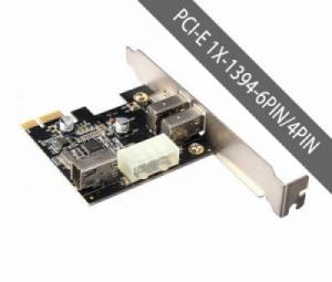 Card 1394 PCI-E 1X ra 3 cổng 1394 6PIN và 1 cổng 1394 4 pin UNITEK (1394-3N)