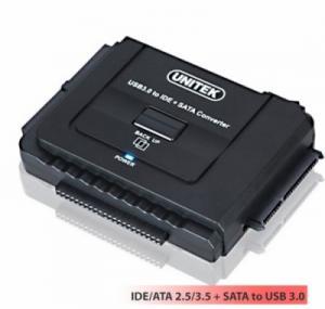 IDE/ATA-SATA ra USB 3.0 hỗ trợ nguồn ngoài và dùng Ổ cứng 4TB UNITEK Y-3322A