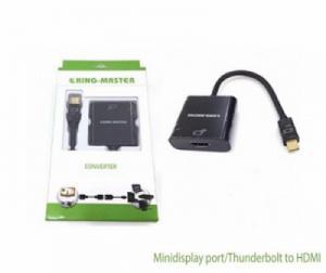 Cáp chuyển Minidisplay/Thunderbolt sang HDMI 20Cm KY-M362B King-master (màu đen)