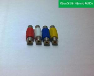 Đầu nối cáp loa với nhau (2 đầu AV âm) ( xanh, đỏ trắng vàng)