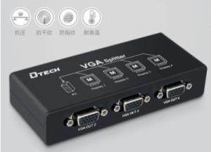 Bộ chia VGA 1 ra 4 250MHz chính hãng DTECH (DF-2504)