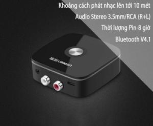 Đầu phát nhạc không dây bluetooth từ Smartphone, Máy tính bảng,Iphone, Ipad ra Loa, Amplifer UGREEN 30445-có pin