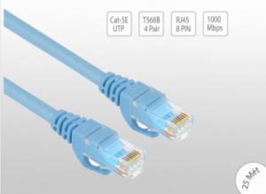 Cáp mạng bấm sẵn UTP, CAT5E 10/100/1000Mbps 25 mét UNITEK Y-C816