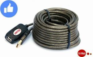 Cáp nối dài, khuếch đại tín hiệu USB 10 Mét, dòng cáp có IC khuếch đại UNITEK Y-260
