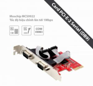 Card PCI sang COM (card PCI-E 1X-Serial/DB9) UNITEK Y-7504