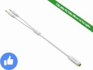 Cáp gộp tín hiệu 2 đầu 3.5mm vào 1 đầu 3.5mm âm (gộp Micro và tai nghe vào 1) UGREEN 10790