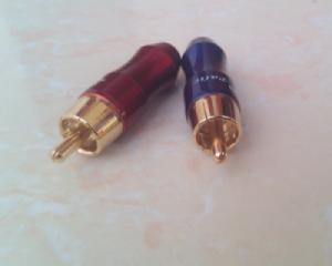 Đầu hàn cáp âm thanh hoa sen 1 chiếc(đầu hàn RCA/Coaxial/SPDIF) Palic (xanh, đỏ)