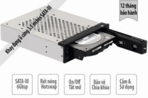 Khay lắp ổ cứng cho máy tính để bàn, ổ 3.5 inches SATA-III 6Gbps, có khóa đóng mở và hỗ trợ Hotswap (rút nóng) ORICO 1109SS