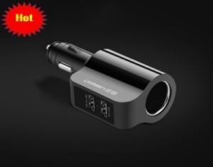 Bộ cấp nguồn 12V/24V ra 5V sử dụng trên Ôtô 2 cổng USB UGREEN 20394 (màu đen)