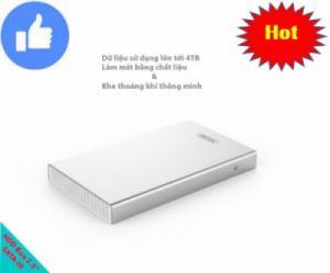 Hộp đựng và đọc dữ liệu ổ cứng SATA-III UASP-3.0 dùng cho ổ nhỏ 2.5 inches UNITEK Y-3369SL (trắng)
