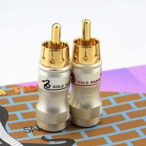 Đầu hàn cáp âm thanh hoa sen (đầu hàn RCA/Coaxial/SPDIF) Gold snake