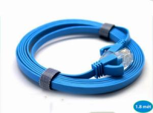 Cáp mạng bấm sẵn Cat6 gigabit, dẹt mỏng 1.8 mét, chính hãng DTECH DT-67F18
