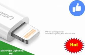 Đầu chuyển Micro USB sang Lightning chính hãng, có chứng chỉ MFI của Apple - UGREEN 20745