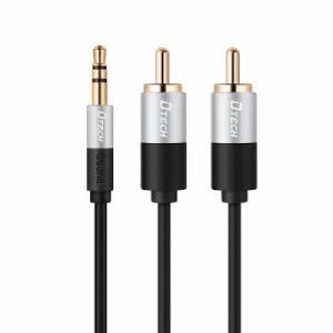 Cáp Audio 1-2RCA loại ngắn 70Cm DTECH (T0227)