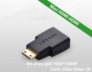 Đầu chuyển Mini HDMI lên TV (Mini HDMI-HDMI) UGREEN 20101