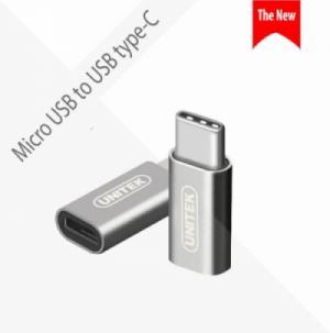 Đầu chuyển USB type-C sang Micro USB UNITEK Y-027AGY