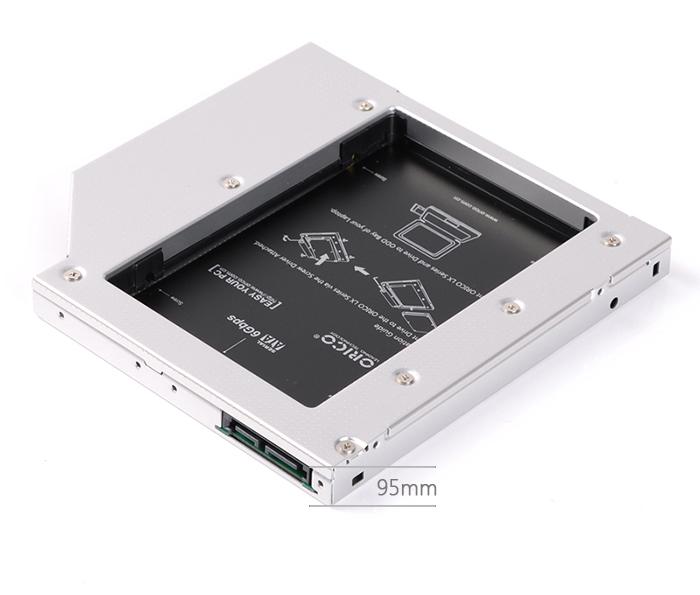Caddy bay Orico L95SS. Lắp thêm HDD, SSD cho laptop qua khay CD