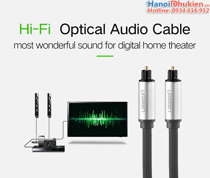 Cáp toslink (optical) audio quang chính hãng ugreen