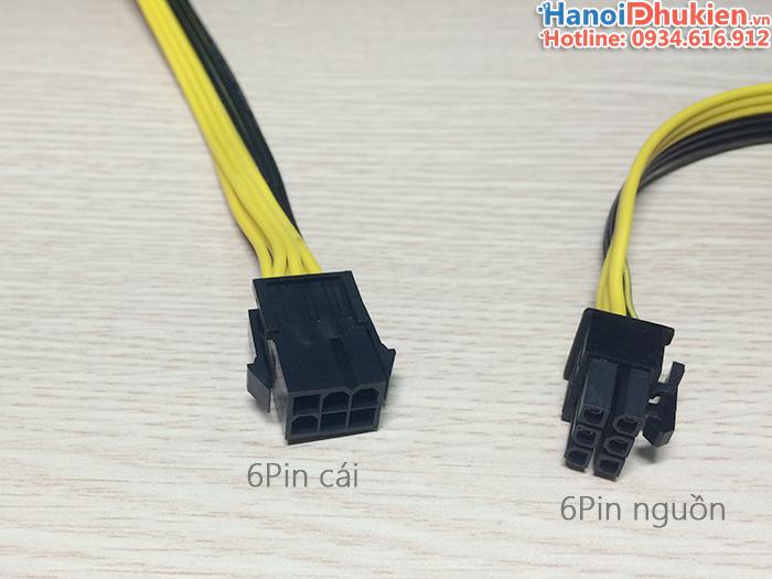 Cáp chia nguồn VGA 6pin 1 ra 2 chất lượng tốt