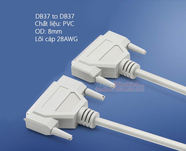 Cáp COM DB37 Male to Male (hai đầu đực) dài 1.5M đầu đúc sẵn