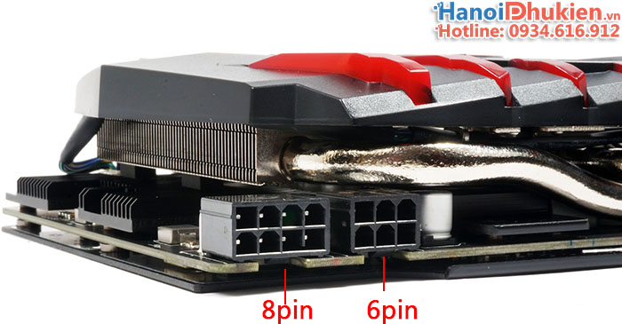 Cáp chuyển 4pin sang 8pin cấp nguồn Card màn hình VGA, Main