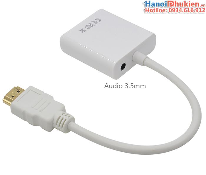Cáp kết nối Laptop ra máy chiếu (HDMI sang VGA, Audio)