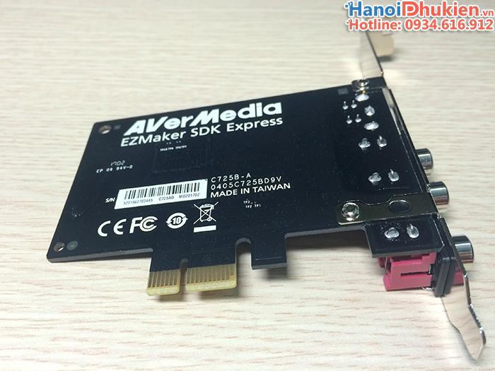 Card PCI-E ghi hình AV Svideo AverMedia C725