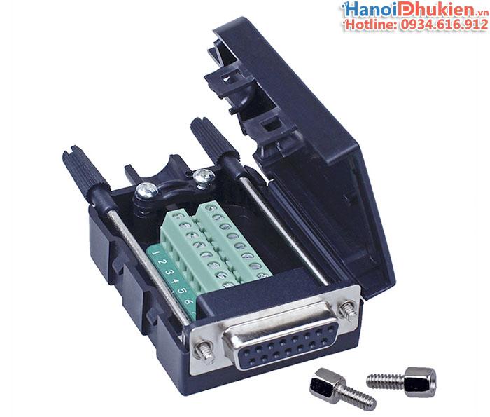 Đầu bấm DB15 Female D-SUB 2 Row Adapter Module RS232 Serial