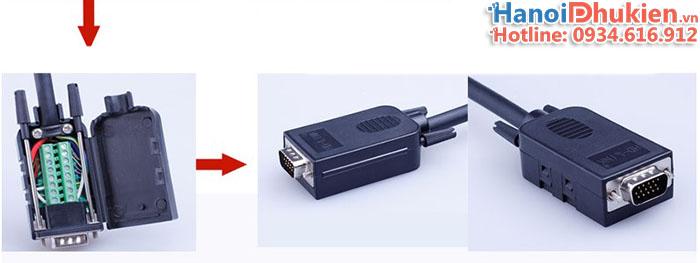 Đầu bấm VGA 3+6 Male HD-Link