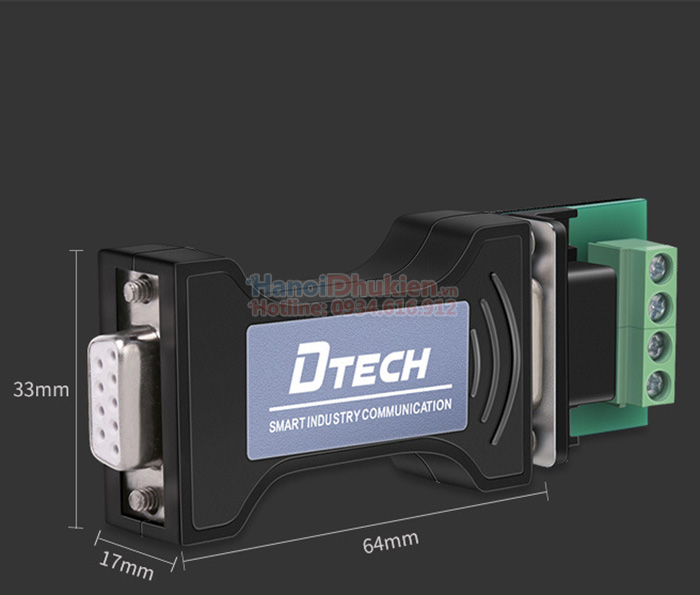 Đầu chuyển đổi RS232 sang RS485 chính hãng Dtech DT-9000