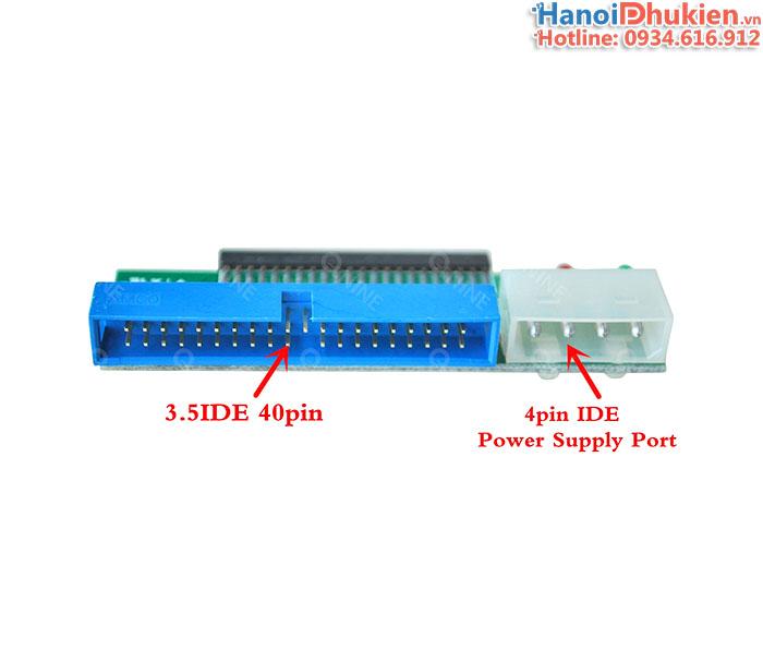 Card chuyển đổi IDE 2.5-44pin sang IDE 3.5-40pin, ổ cứng ATA Laptop sang ổ cứng ATA máy bàn