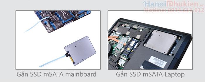 Khay chuyển SSD mSATA sang SATA 2.5 inch Kingshare KS-AMSTS