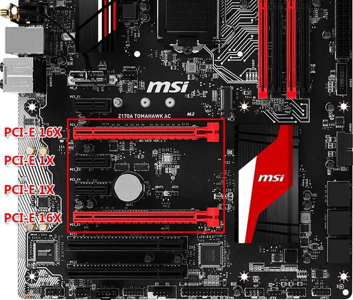 Sử dụng cho mainboard có PCI-E 1x và PCI-E 16X (Card VGA)