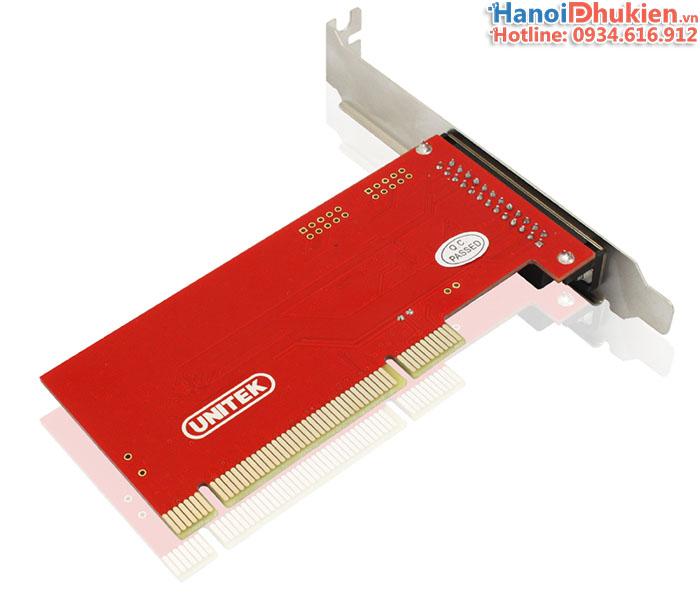 Card PCI to LPT Unitek Y-7505. Hỗ trợ Windows 7, 8