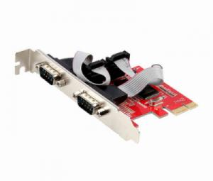 Card PCI-E 1X to 2 COM RS232 Unitek Y-7504