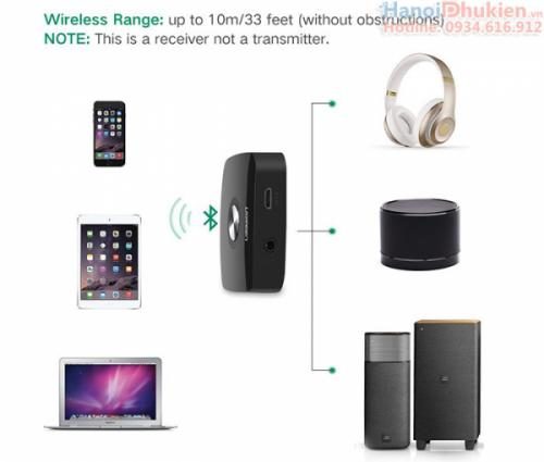 Đầu nhận Bluetooth 4.1 EDR cho âm ly, loa Ugreen 30444