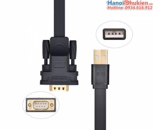 Cáp USB sang RS232 (USB sang COM) chip FTDI Ugreen 20221