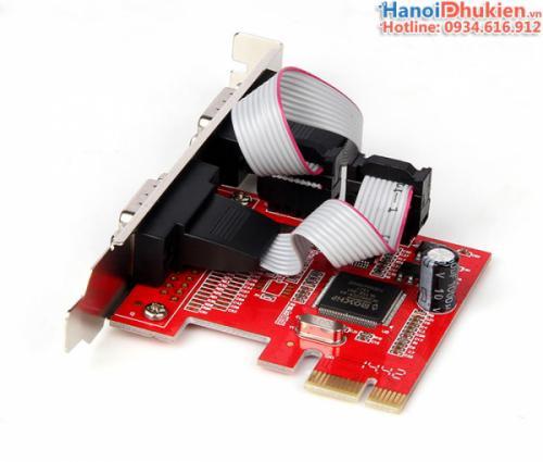Card PCI-E 1X to 2 COM RS232 Unitek Y-7504