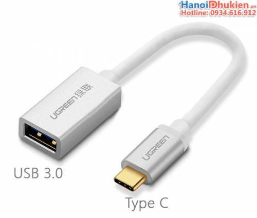 Cáp chuyển USB 3.0 sang Type C Ugreen 30645 vỏ nhôm
