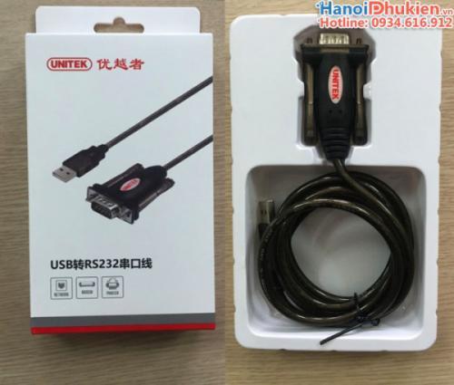 Cáp USB to Com (RS232) 1.5M Unitek Y-105