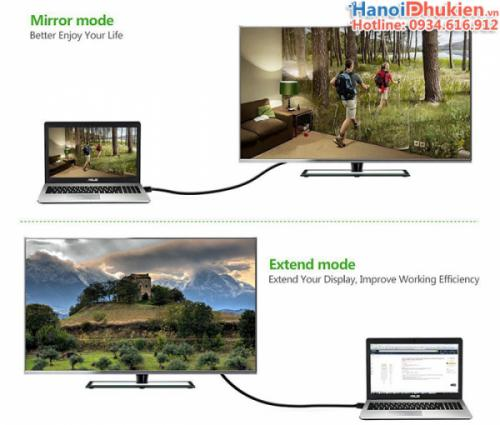 Cáp kết nối Macbook ra Tivi, máy chiếu 2M Ugreen 10435 (Đen)