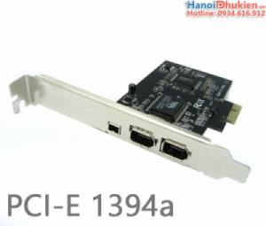 Card PCI-E sang Firewire 1394a 600-400 VIA Chip Taiwan