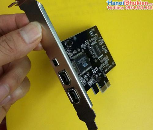 Card PCI-E sang Firewire 1394a 600-400 VIA Chip Taiwain