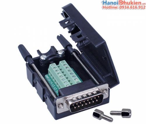 Đầu bấm DB15 Male D-SUB 2 Row Adapter Module RS232 Serial